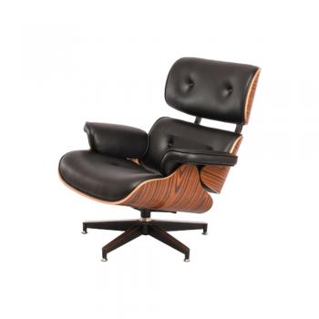 Кресло Eames Lounge Chair (черный)
