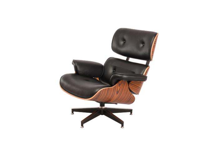 Кресло Eames Lounge Chair (черный)  1