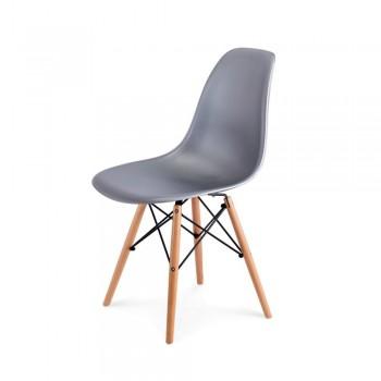 Стул Eames DSW Chair (серебро)