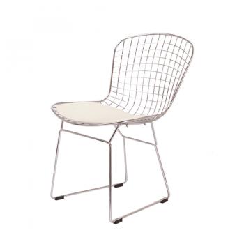 Стул Bertoia Chair хром (белый)