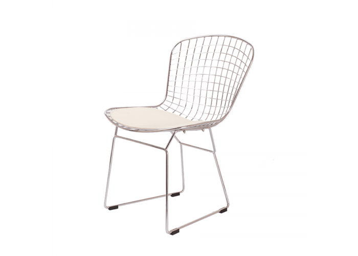 Стул Bertoia Chair хром (белый)  1