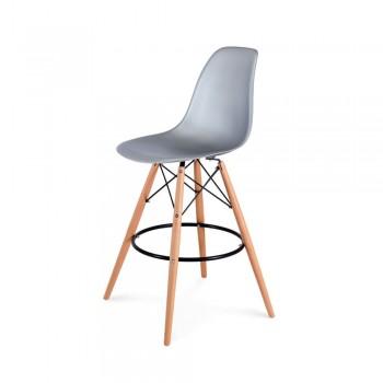Барный стул Eames Bar Chair (серебро)