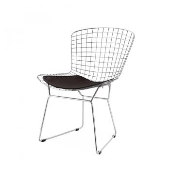 Стул Bertoia Chair хром (черный)