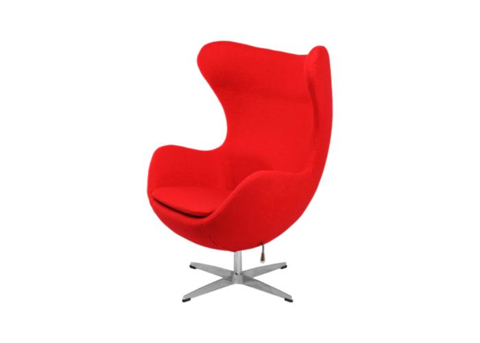 Кресло Egg Chair (шерсть, красный)  1