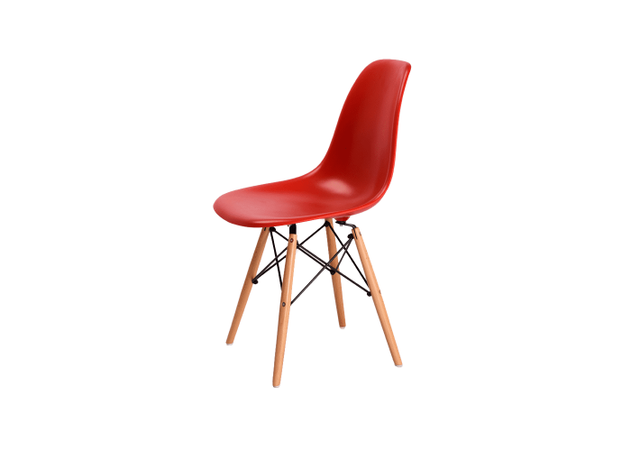Стул Eames DSW Chair (красный)  1