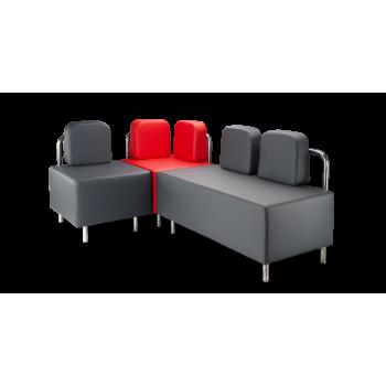 Диван модульный: Немо - 2 - NS + угол - NS + кресло Немо - 1 - NS