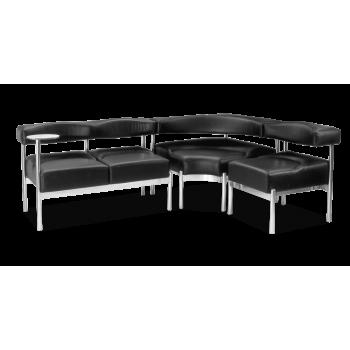Диван модульный: Плаза - 2 NS + угол NS + кресло Плаза - 1 NS + подставка столик