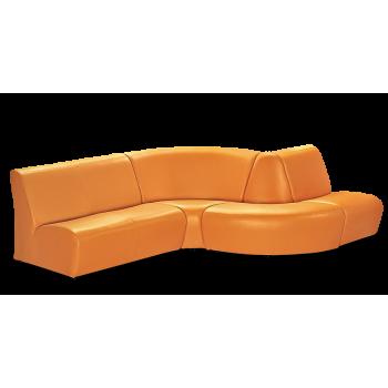 Диван модульный: Альфа - 2 + кресло Альфа - 1 + Альфа - сектор внутр. и наружный