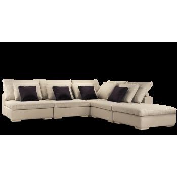 Диван модульный: Кресло Колизей - 1 (3шт.) + угол + пуф