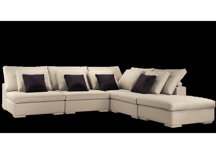 Диван модульный: Кресло Колизей - 1 (3шт.) + угол + пуф  1