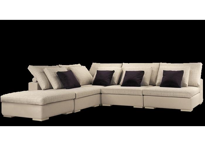Диван модульный: Кресло Колизей - 1 (3шт.) + угол + пуф  2