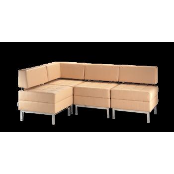 Диван модульный: кресло Римини - 1 NS (3 шт.) + угол NS