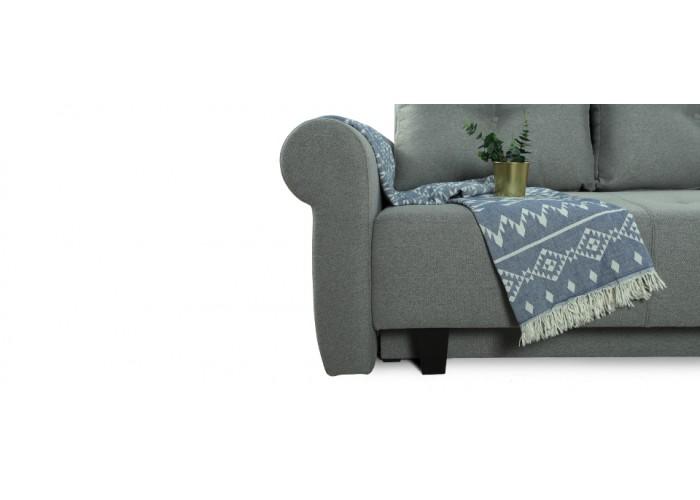 Прямой диван Грета (серый)  4