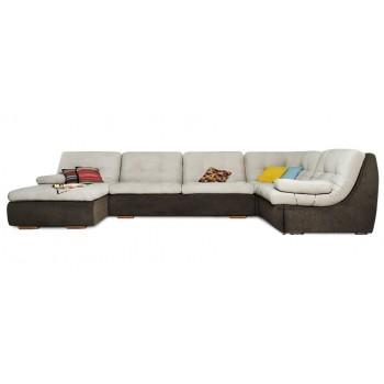 Модульный диван Фрейя (серо-коричневый)