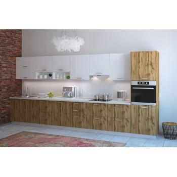 Модульная кухня Артика 4200мм. (дуб природный)