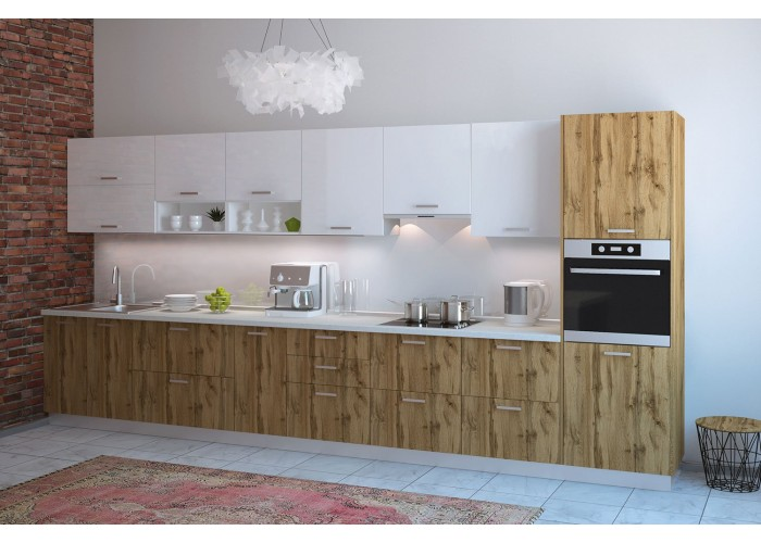 Модульная кухня Артика 4200мм. (дуб природный)  1
