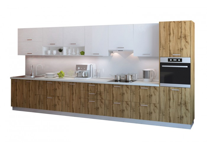 Модульная кухня Артика 4200мм. (дуб природный)  2