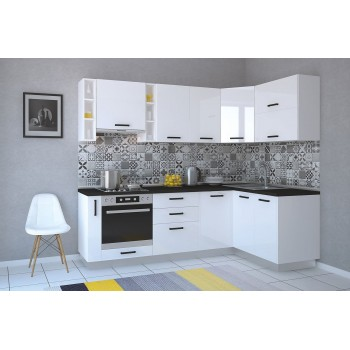 Модульная кухня Арктика глосс 2150х800мм