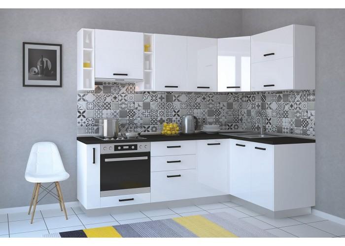 Модульная кухня Арктика глосс 2150х800мм  1