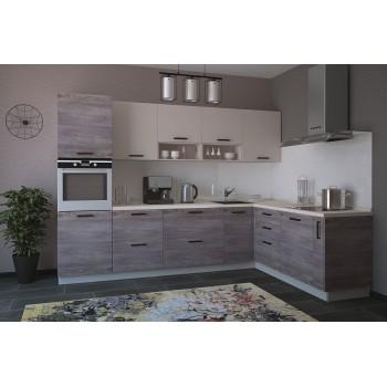 Модульная кухня Дум дымчатый & Крем 2800х1400мм.