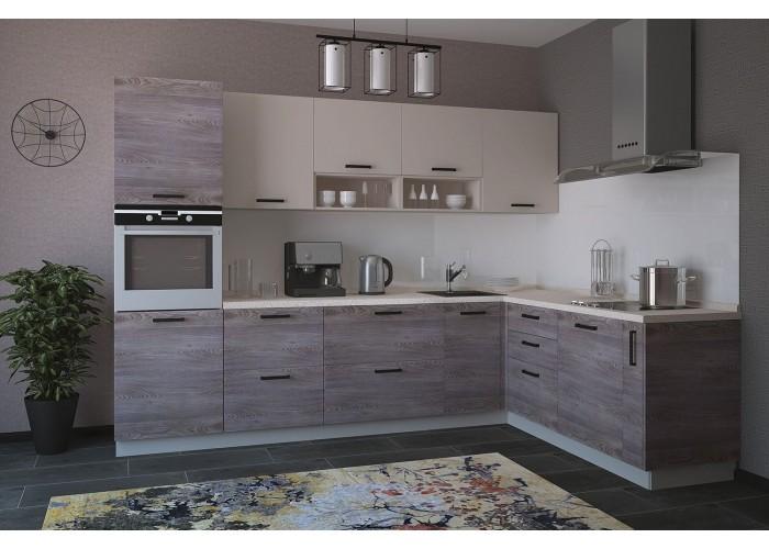 Модульная кухня Дум дымчатый & Крем 2800х1400мм.  1