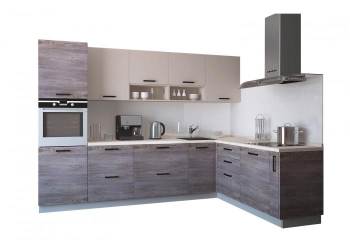 Модульная кухня Дум дымчатый & Крем 2800х1400мм.  2