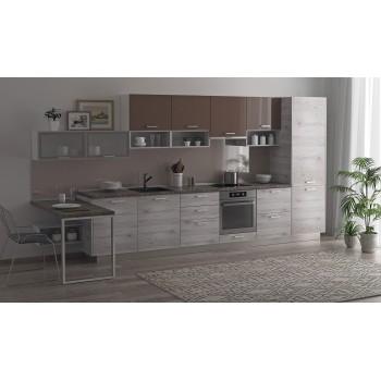 Модульная кухня Дуб полярный Какао 4200 мм.