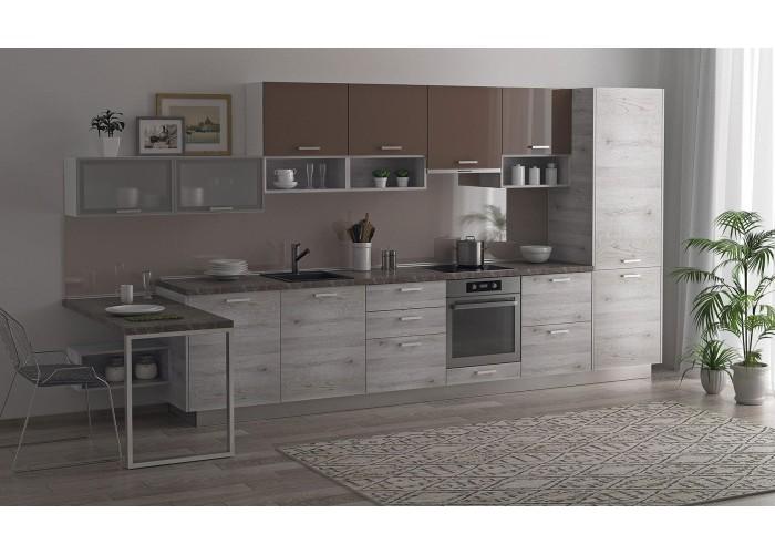 Модульная кухня Дуб полярный Какао 4200 мм.  1