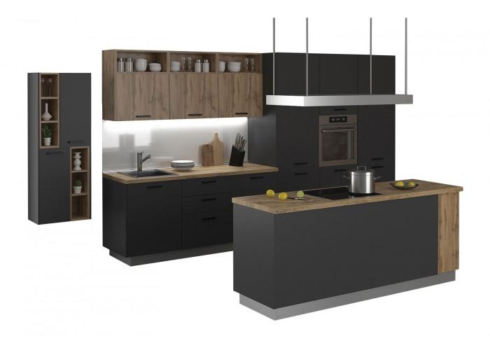 Модульная кухня Дуб природный & Серый пепел 4100 мм.  2