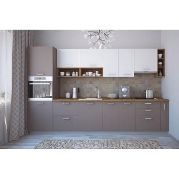 Модульная кухня Лавина матовая Мокка 3400 мм.
