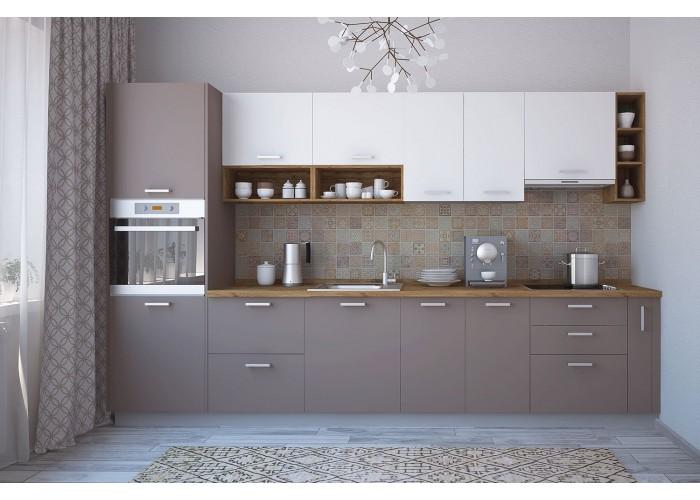Модульная кухня Лавина матовая Мокка 3400 мм.  1