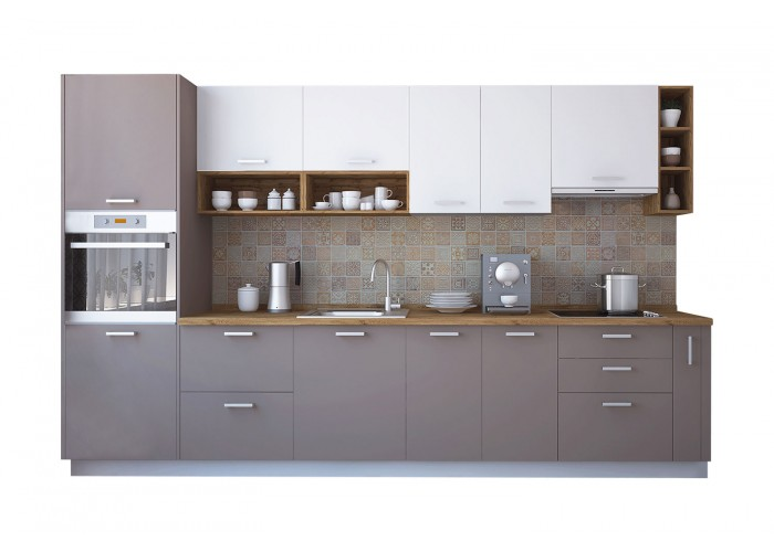 Модульная кухня Лавина матовая Мокка 3400 мм.  2