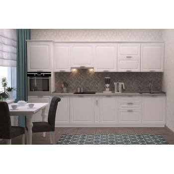Модульная кухня Марсель белый шёлк 3400