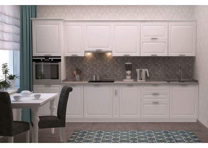 Модульная кухня Марсель белый шёлк 3400  1