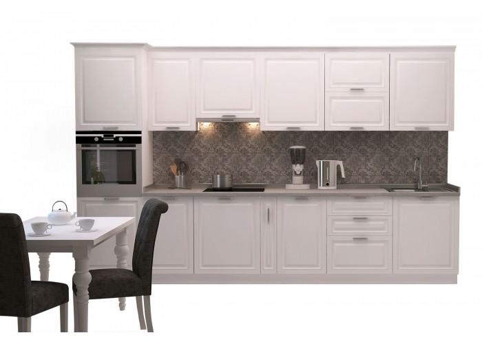Модульная кухня Марсель белый шёлк 3400  2