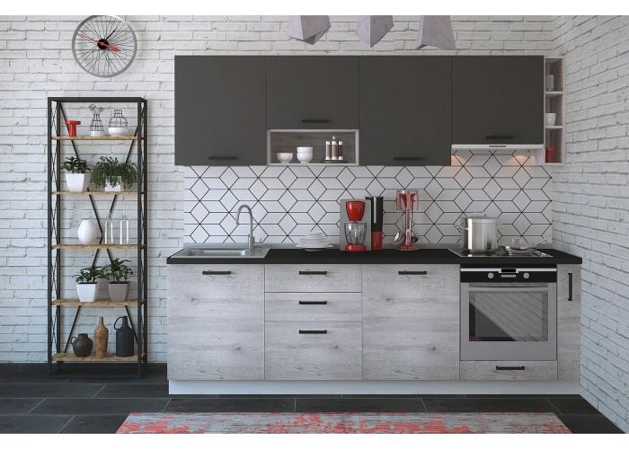 Модульная кухня Дуб полярный & Серый пепел 2550 мм.  1