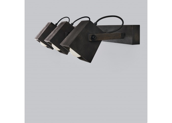 Светильник настенный/потолочный H5-3 черное масло  2