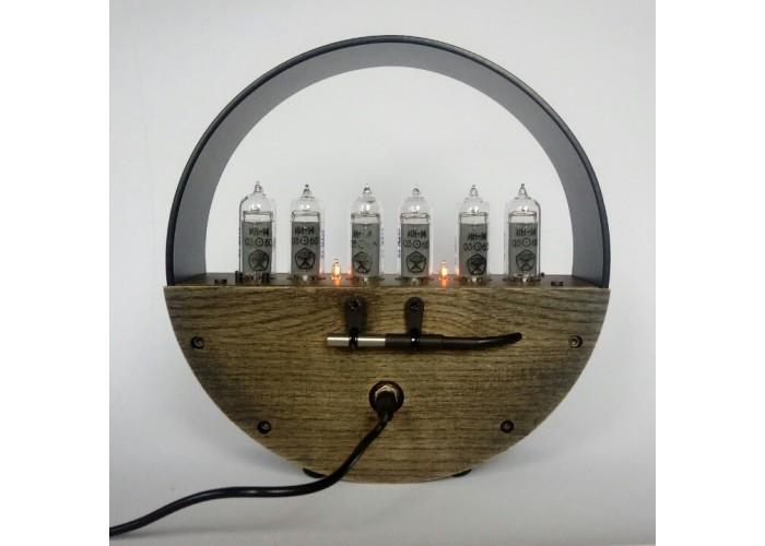 Большие часы Nixie в черном корпусе in-14*6  4