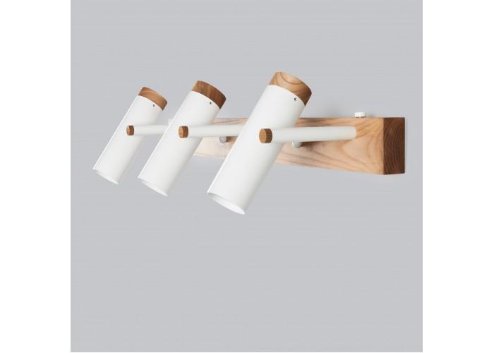 Настенный/потолочный светильник в стиле лофт Urban-3 white  4