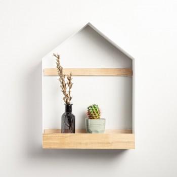 Полка- домик из металла и ясеня в скандинавском стиле