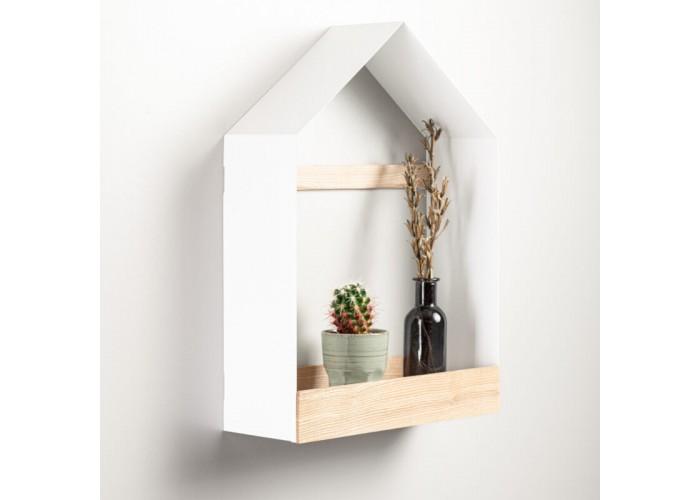 Полка- домик из металла и ясеня в скандинавском стиле  3