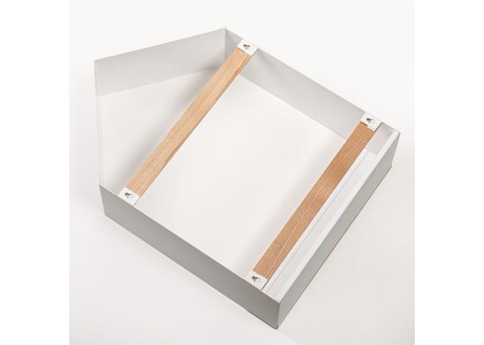 Полка- домик из металла и ясеня в скандинавском стиле  4