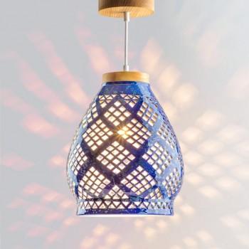 Светильник керамический Heart cobalt