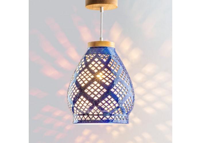 Светильник керамический Heart cobalt  1