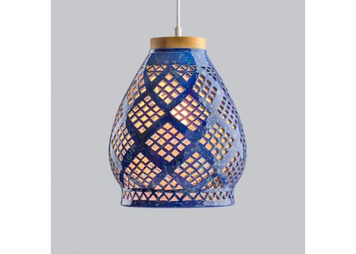 Светильник керамический Heart cobalt  3