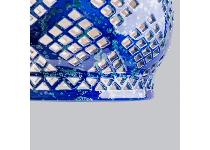 Светильник керамический Heart cobalt  6