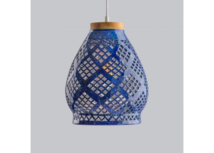 Светильник керамический Heart cobalt  7