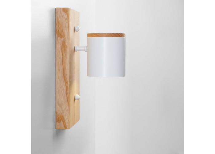 Светильник современный Бра лофт на стену белый Wooden Light white  1
