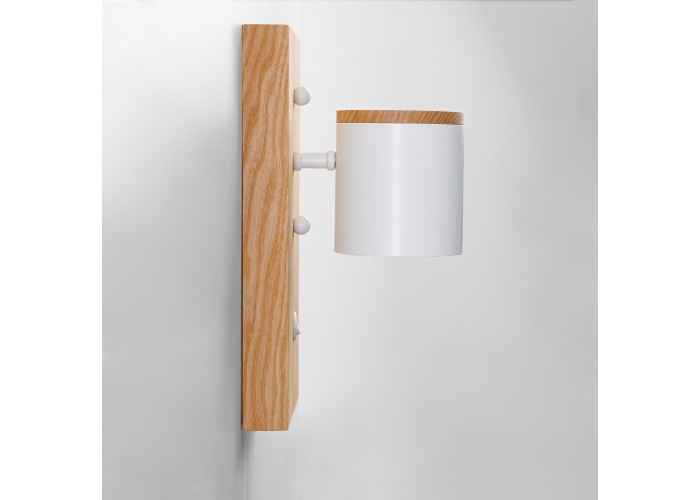 Светильник современный Бра лофт на стену белый Wooden Light white  2