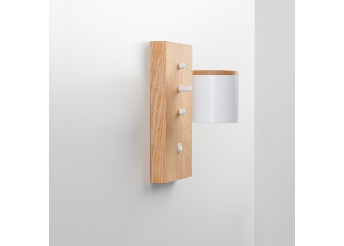 Светильник современный Бра лофт на стену белый Wooden Light white  3